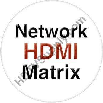4x24 HDMI Matrix Over LAN w/POE, Video Wall, WEB GUI & Separate Audio