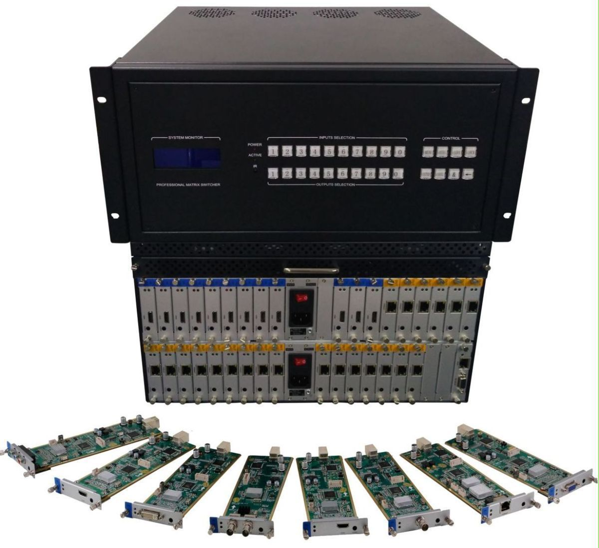 4x24 HDMI Matrix Switcher w/Video Wall Processor, 100ms Switching, Scaling & Separate Audio