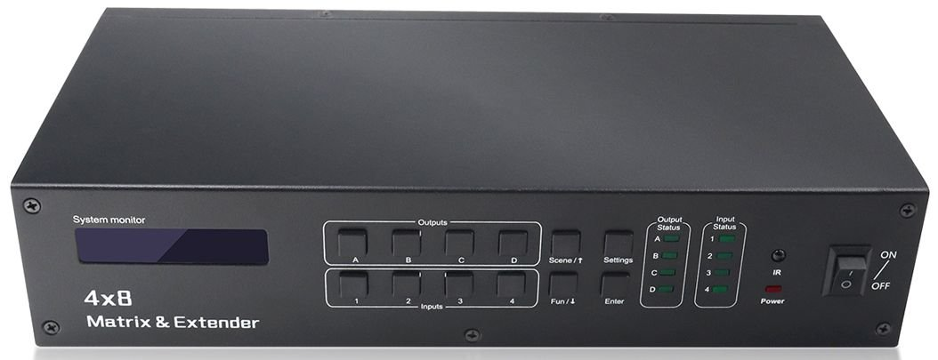 WolfPack 4x4 (4x4x2) HDMI Matrix Switch over Both HDMI & CAT5
