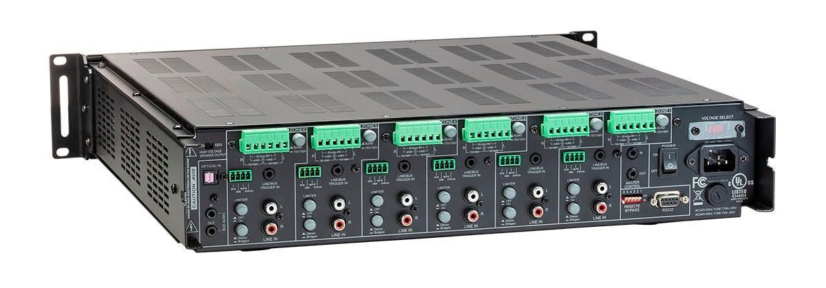 WolfPack 6x12 Audio Multizone Amp w/RS232, 70V & 4-Ohm Outputs