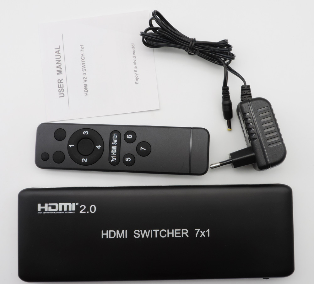 7x1 HDMI Switcher with 4K/60 & HDMI 2.0b