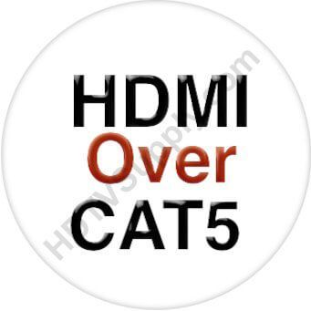 8x16 HDMI Matrix Switch with 16-Separate HDMI to CAT5 Baluns in 32x32 Chassis