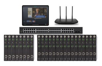 POE 8x16 HDMI Over IP Matrix Switcher w/Real Time iPad Video Preview