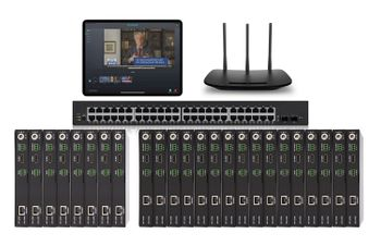 POE 8x16 HDMI Over IP Matrix Switcher w/iPad Real Time iPad Video Preview