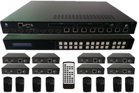 4K WolfPack 8x8 HDMI HDBaseT Matrix Switch Using POE Receivers