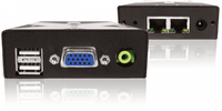 Adder X200AS-R-US Hi Res VGA CATx Extender with USB, Stereo Audio