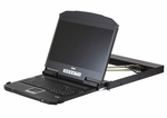 ATEN CL3800NX 19in. Ultra Short Depth Dual rail LCD Console support