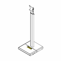 Aurora APS-2-W Adjustable Height Tablet Stand For Up To 21.5in., White