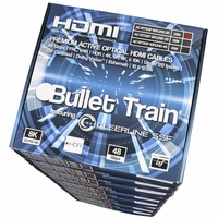 AVPro Edge AC-BTSSF-10KUHD-20-MP Bullet Train 10 Pack 20M HDMI Cables