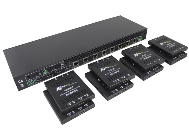 AVPro Edge AC-DA210-HDBT 2 IN/10 OUT Distribution Amplifier