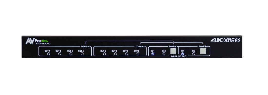 AVPro Edge AC-DA28-AUHD 18Gbps 2x8 Distribution Amplifier