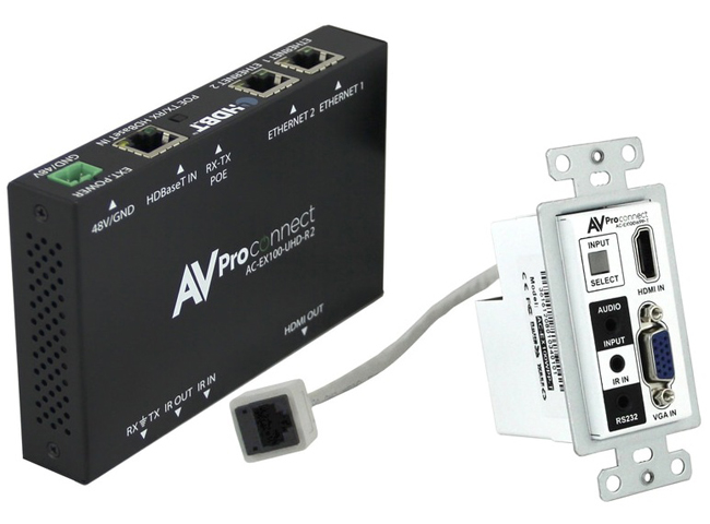 AVPro Edge AC-EX100WPP-UHD-KIT HDMI Wall Plate Extender Kit
