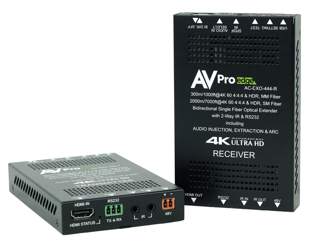 AVPro Edge AC-EXO-444-KIT 4K HDMI Extender via Optical Fiber