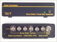 Burst Electronics SG-7-TONE-U 6 Black Burst Out 1 Bars Out w/ Audio