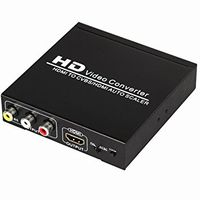 Composite Video to 1080p HDMI Scaler w/HDMI In & Out