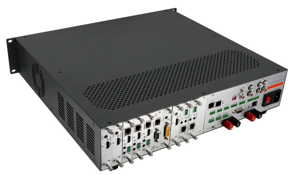 Conference Room Video Switcher w/AMPs & 100ms Switching &