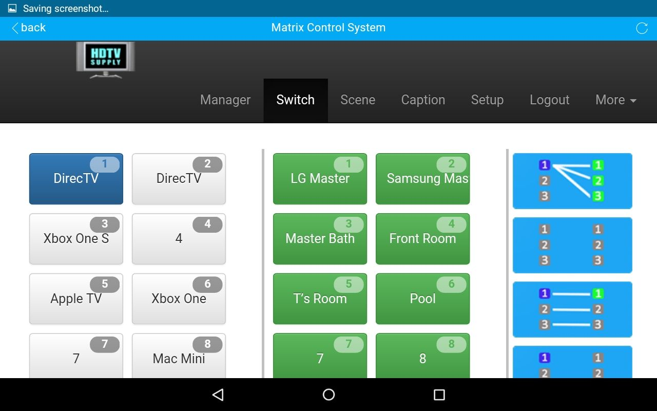 DirecTV™ & HDMI Matrix Control Software for Bars, Restaurants & Homes