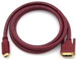 DVIGear DVI-2402-HR HDMI to DVI-D HR Copper Cable, 24AWG, 2 meter
