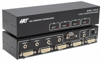 Hall Research DVS-4A 4-Port DVI Switch w/Audio/Serial Control