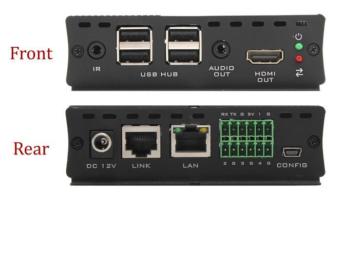 Hall Research EX-HDU HDMI & USB Extension on CAT6 w/Audio