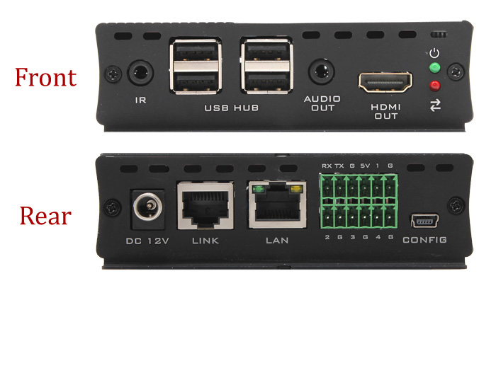 Hall Research EX-HDU-IP HDMI & USB Extension on CAT6 w/Audio and IP
