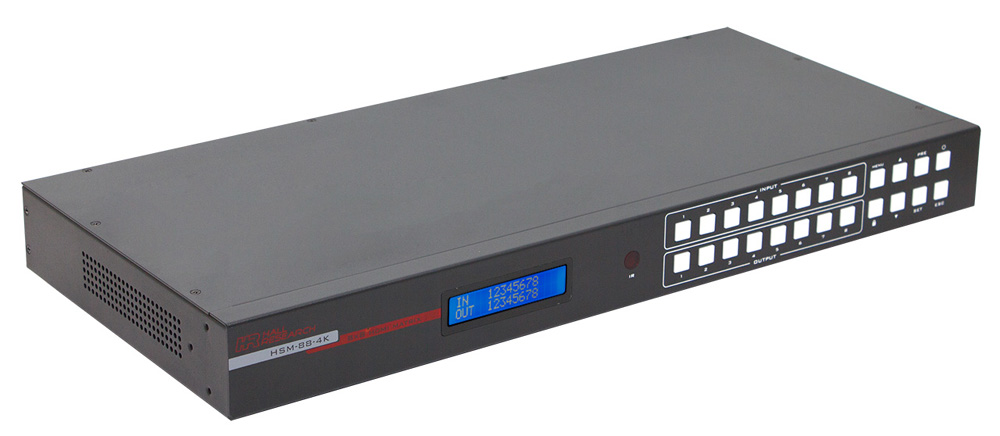 Hall Research HSM-88-4K 4K 8X8 HDMI Matrix Switch