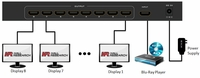 Hall Research SP-HD-8B 8-Channel HDMI Splitter w/Analog Audio Output