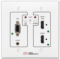 Hall Research UHBX-SW3-WP VGA, HDMI, MHL Auto-Switching Wall-Plate