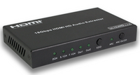 4K 1x2 HDMI Splitter w/18GBPS Audio Extractor & HDMI 2.0b HDCP 2.2 & HDR