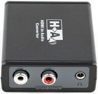 HDMI Audio Extractor Decoder HDMI Digital to Analog Audio Adapter RCA & 3.5mm