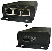 WolfPack HDMI to CAT5 Extender to 300' w/Chainable Receivers to 2 Miles & 100 Displays
