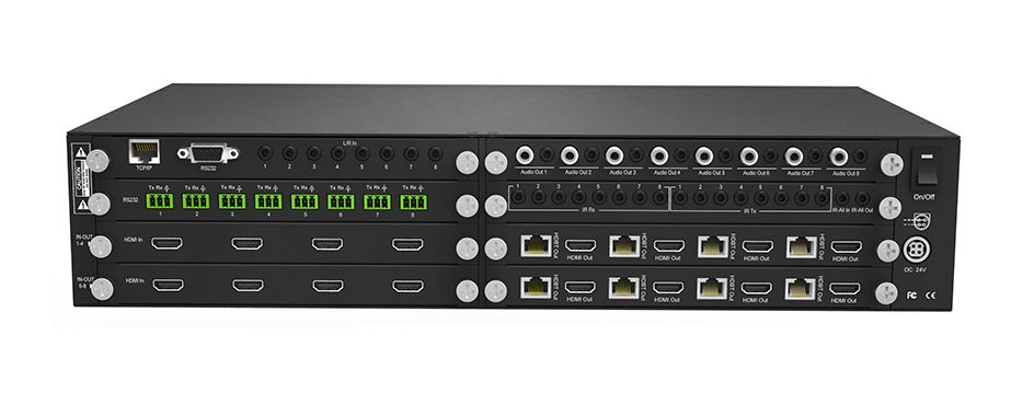 4K 60 4:4:4 8x8 HDMI Matrix HDR Switch with HDBaseT Extenders