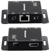 WolfPack HDMI over CAT-5 Converter to ~150′ w/EDID, IR, POC & Loopout