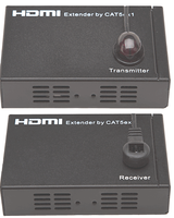 HDMI Over Cat5 Transmitter & Receiver to 300' w/Remote IR