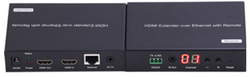 WolfPack HDMI Over LAN Adapter w/POE, Remote Control, HDMI Loopout, IR & LED Display - You Design It