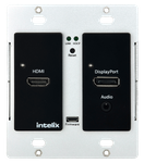 Intelix AS-1H1DP-WP-B HDMI/DisplayPort Wallplate w/ HDBaseT Output