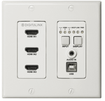 Intelix DL-3H1U-WP-W DigitaLinx Three HDMI HDBaseT Wall Plate w/ USB