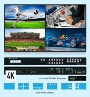 Key Digital KD-MLV4x2PRO 4x2 4K MultiView Presentation Matrix Switcher