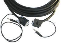 Kramer CP-GMA/GMA/XL-50 15-pin HD & 3.5mm Audio Cable - Plenum Rated