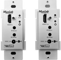 Muxlab 500451-WP-DEC HDMI Transmitter/Receiver Wall-Plate Extender Kit