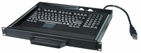 NTI RACKMUX-UKT-LC Low Cost USB Rackmount Keyboard Mouse Drawer