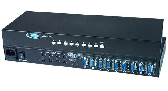 NTI SE-AV-8-RS 8 Computers Between 1 Monitor VGA Video Switch w/Audio