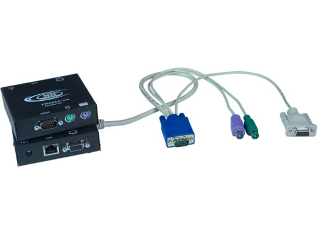 NTI ST-C5KVMA-L-600 VGA PS/2 KVM Transmitter with Audio: 600 feet