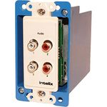 Intelix AVO-A4-WP-PAC-F Wall Plate Dual Stereo Audio CAT-5 Balun with RCA Connectors