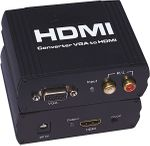 PC to HDMI Adapter w/HDCP Off/On Switch, CEC & HDMI Booster