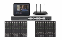 POE 10x9 HDMI Over IP Matrix Switcher w/Real Time iPad Video Preview