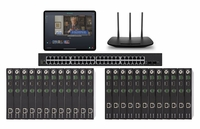 POE 12x12 HDMI Over IP Matrix Switcher w/Real Time Video Preview
