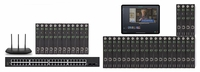 POE 12x24 HDMI Over IP Matrix Switcher w/Real Time Video Preview