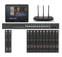 POE 2x10 HDMI Over IP Matrix Switcher w/Real Time iPad Video Preview
