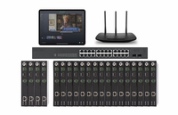 POE 4x16 HDMI Over IP Matrix Switcher w/Real Time Video Preview